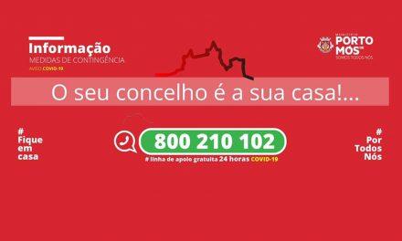 COVID-19: Comunicado do Presidente da Câmara Municipal de Porto de Mós (12/04/2020)
