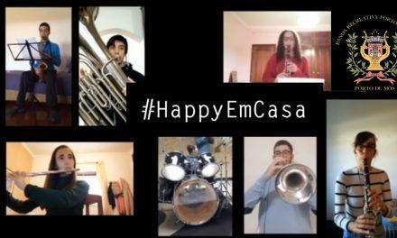 Banda Recreativa Portomosense dá música para alegrar recolhimento em casa
