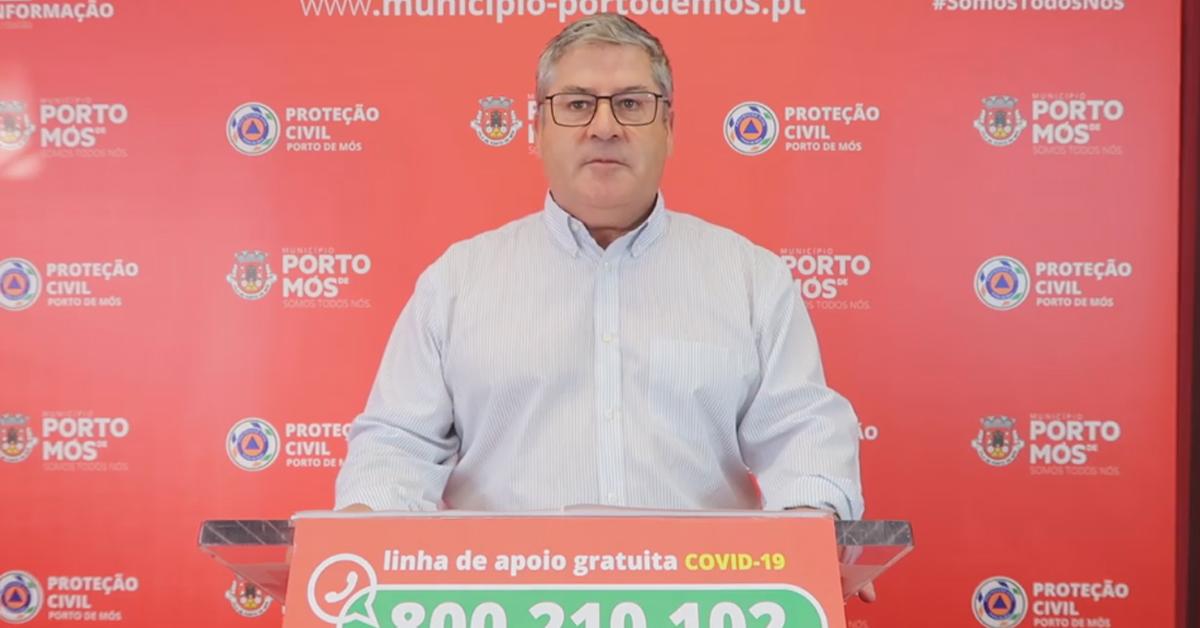 COVID-19: Comunicado do Presidente da Câmara Municipal de Porto de Mós (10/09/2020)
