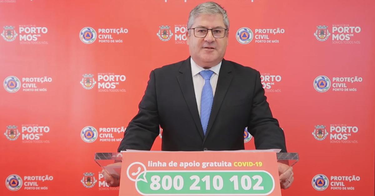 COVID-19: Comunicado do Presidente da Câmara Municipal de Porto de Mós (17/06/2020)