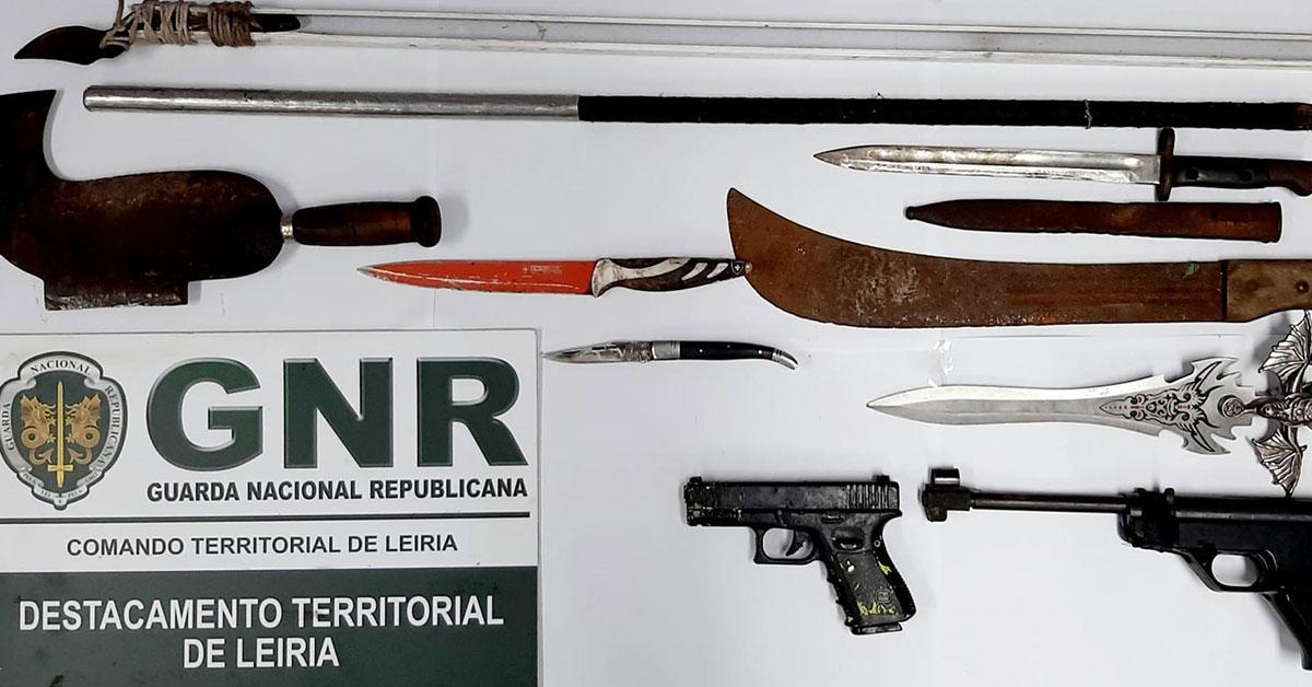 GNR apreende armas ilegais em Mira de Aire