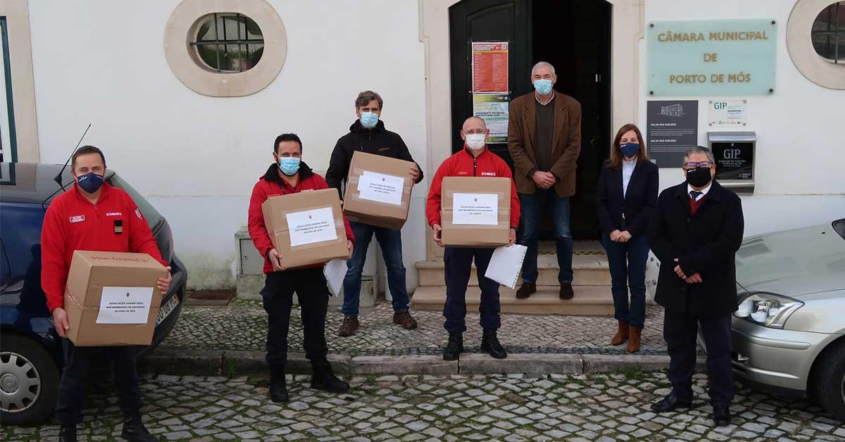 """Município de Porto de Mós entrega """"mais de 5 mil máscaras"""" a instituições"""