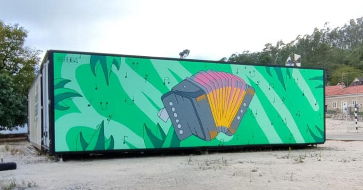 """""""Barrenta, a """"típica aldeia rural"""" onde é possível apreciar """"street art"""""""